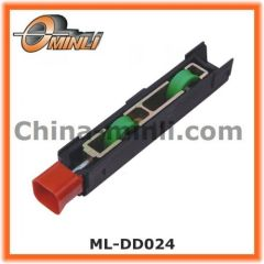Plastic Bracket Pulley with Double Rollers for Windows and Doors