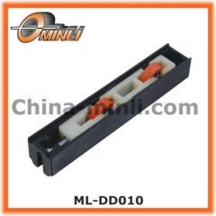 Twin roller bearings in Plastic Nylon housing for sliding windows track