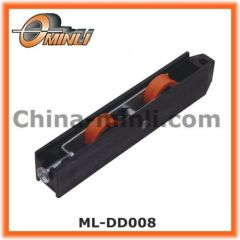 Plastic Bracket with Double Wheels for Windows and Doors