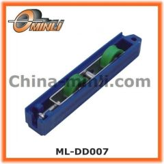 Double Nylon wheels in Punching housing for sliding windows and doors
