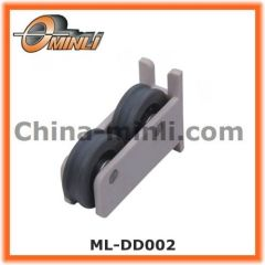 Sliding Window roller Plastic Bracket Pulley with Double wheel