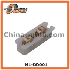 Heavy Duty Double Copper wheels window roller with Plastic Bracket