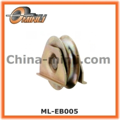U groove Iron gate wheel pulley with bracket