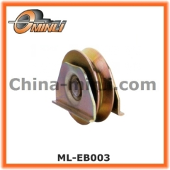 Iron gate wheel roller