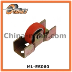 Flat single round pulley for window and furniture