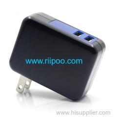 Riipoo 18W 3.6A Dual Port USB Wall Charger voor draagbare reislader Gelijktijdig volle snelheid opladen