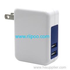 Riipoo caricabatterie da muro migliore qualità e 18w 5V 3.6A per portatile Travel Charger simultanea di ricarica piena velocità