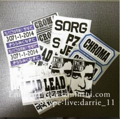 Manufacturer custom any print word of Egg shell stickers.Destructible Labels material cannot remove completely