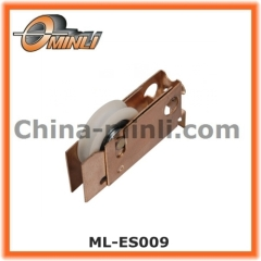 Zinc coated Punching Bracket pulley for slide