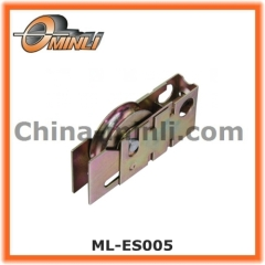Customized Punching Bracket Pulley with Single Metal Roller