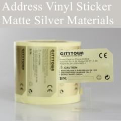Hot Sale Custom Matte Silver PET Sticker Printing Self Adhesive Silver Foil Sticker For laptop sticker