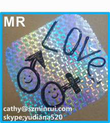 hologram graffiti eggshell destructible sticker