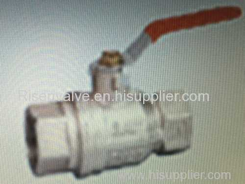Brass gas ball valve with chrome plated