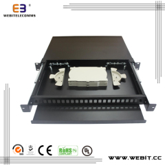 24 port 1U fiber termination box