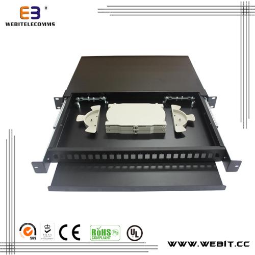 24 port 1U fiber termination box