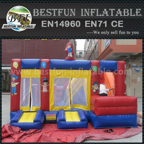Giant commercial bounce inflatable slide