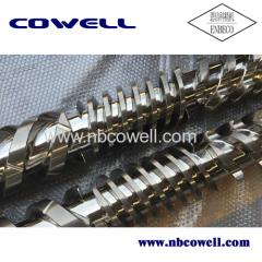 High quality bimetallic twin screw barrel for PP process