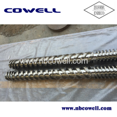High quality twin screw for plastic molding machiner