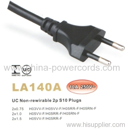 Brazil power supply cord
