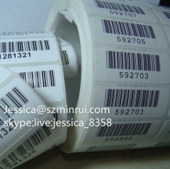 Custom Design Barcode Label Paper Roll Anti-theft Barcode Label Sticker Security Seal Sticker in Roll