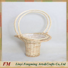 Brown Wicker flower baskets for wedding decoration