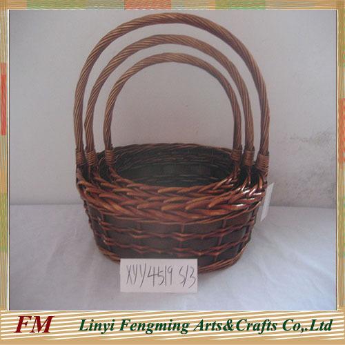 gardening wicker flower basket willow fruit gift basket