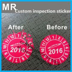 2016 warranty custom security sticker