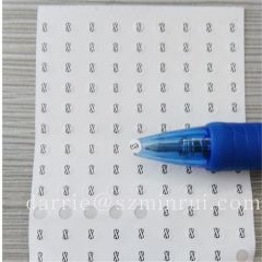 Super small circle self -adhesive security destructible screw warranty label.