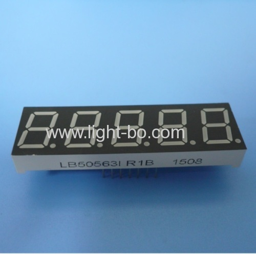 Super Red 0.56  5 Digit 7 segment led display common Anode for Instrument Panel