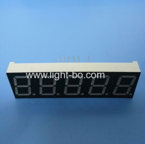 Super bright amber 0.56  5 digit 7 segment led display common cathode for temperature humidity indicator