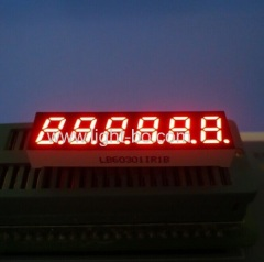6 digit 0.3 inch common anode super bright red 7 segment led display for instrument panel