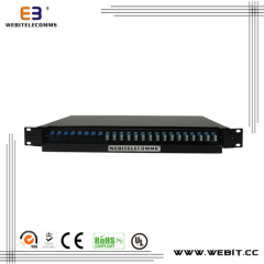 24 port Full loaded LC fiber patch panel