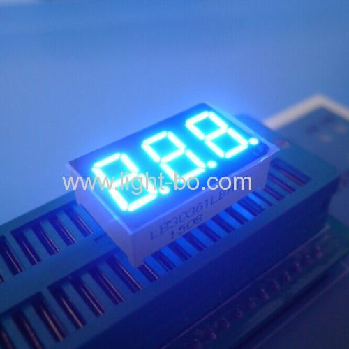3 digit 0.36 inch common cathode ultra bright blue 7 segment led display for instrument panel