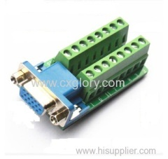 DB15 female VGA Breakout Terminal Block Board
