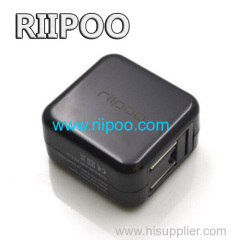 Riipoo USB-lichtnetadapter Wall Charger Draagbare Travel Charger met Folding Been Ontwerp Full-Speed ​​12W / 2.4A Charger