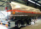 NEW design tri axle 50000 liters fuel tank semi trailer with front axle lifting