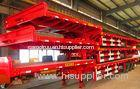 new type 3 axle 60t gooseneck flatbed container trailer for sale
