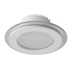 6W 12W 18W LED panel light round Glass style