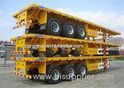 3 axles 40 tons 40 ft Heavy Duty flat bed trailer Leaf Spring Suspension