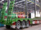 3 axle FUWA low bed semi trailers for transporting heavy truck with good price
