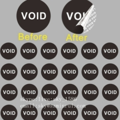 Minrui Custom Shape SIze Color Security Void Label Warranty Void Labels Stickers