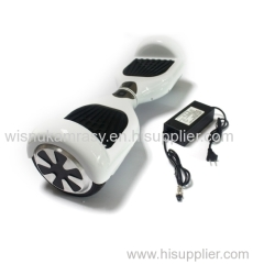 electric scooter skateboard smart self balancing scooter White