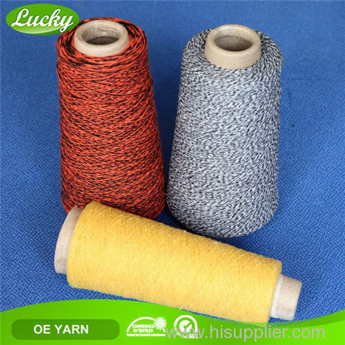 Recycled dyed yarn for weaving 65% cotton 35% polyester