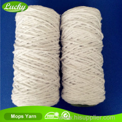 Regenerated cotton and polyester mops yarn