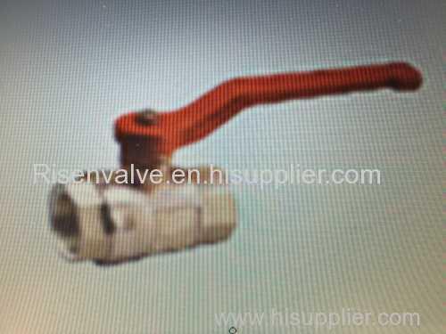 Plumbing ball valve with aluminum long handle