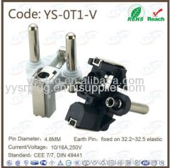 YS 0T1 V turkey plug insert cee7 4 standard plug male plug insert