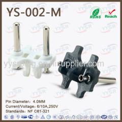 4.0mm holland plug insert VDE plug cee7 17 standard socket plug