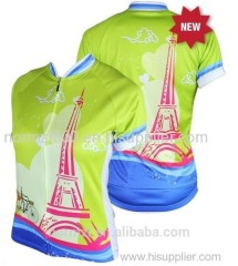 Ladies cycling personality slim cycling jersey quick dry cycling clothes summer outdoor cycling jersey