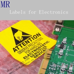 Removable High Quality Labels for Electronics Self Adhesive Shelf Vinyl Sticker