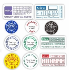 Factory Price Eggshell Paper Warranty Stickers Non Removable Tamper Proof Warranty Void Sticker Security Sticker